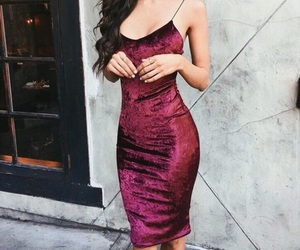 dress, outfit, and velvet image