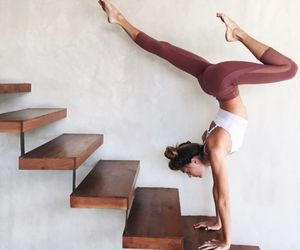 yoga, healthy, and workout image