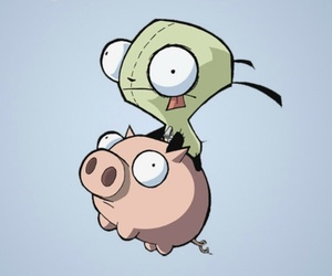 Invader Zim and pig image