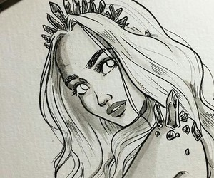 beautiful, Queen, and sketch image