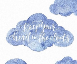 wallpaper, clouds, and quotes image