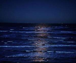 sea, blue, and night image