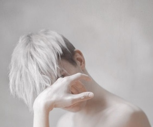 hair, silver, and aesthetic image