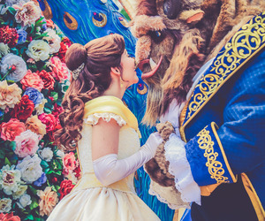 beauty and the beast, disney, and disney world image