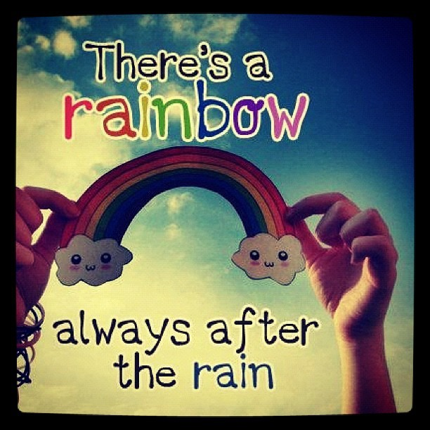 Cute Girl Happy Quotes Rainbow Inspiring Picture On Favimcom