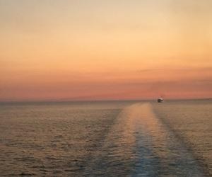 cruise, orange, and sea image