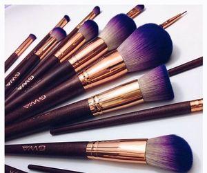 Brushes and lipstick image