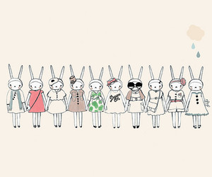 cute, fashion, and bunny image