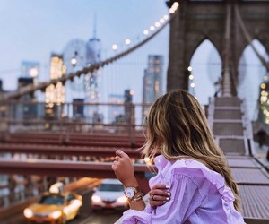 city, girl, and new york image