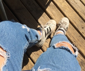 adidas, boyfriend, and jeans image