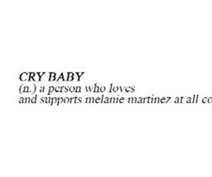 crybaby, definition, and header image