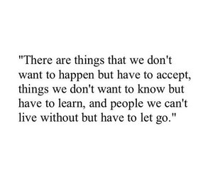 accept, let go, and life goes on image