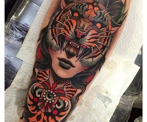 animals, tattoo, and tiger image