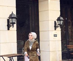 autumn, hijab, and travel image