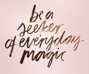 magic, pink, and quote image