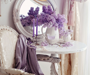 flowers, purple, and vintage image