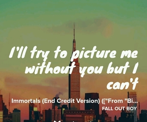 aesthetic, fall out boy, and Lyrics image
