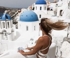 girl, Greece, and hair image