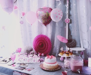 girl, party, and pink image