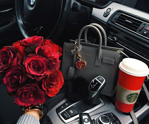 bmw, car, and flower image