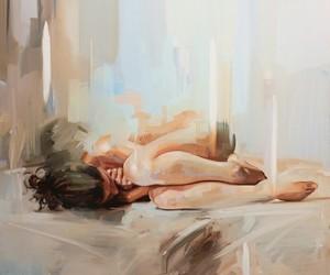 art, painting, and sad image