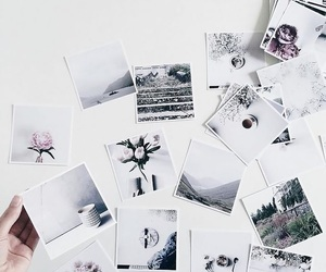white, aesthetic, and polaroid image