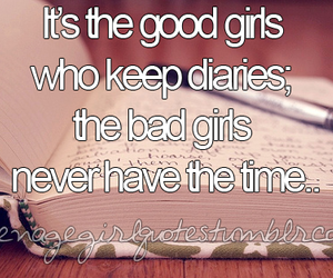 quote, diary, and girl image