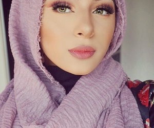 beauty, hijab, and make up image