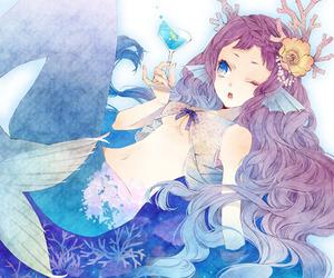 mermaid, anime, and anime girl image