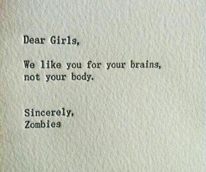 girl, quotes, and brain image