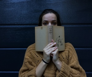 black, girl, and book image