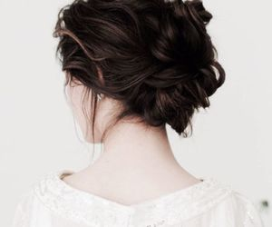 braid, braids, and bun image