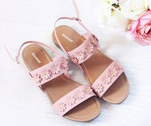 flowers, pink, and sandals image