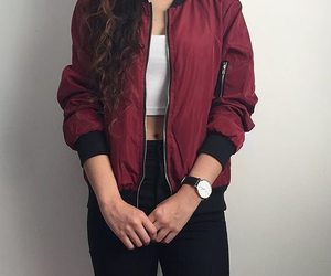outfit, red, and style image