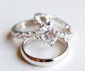 diamond, rings, and wedding image