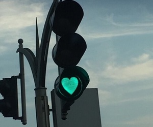 heart, black, and lights image
