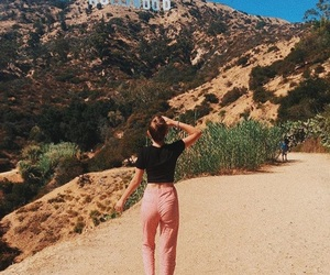 california, hollywood sign, and brandy melville image