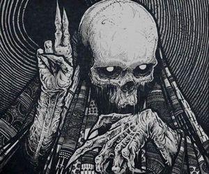skull, dark, and skeleton image