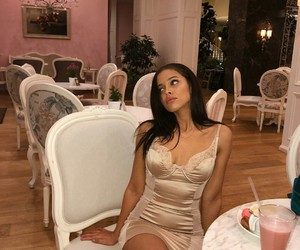 makeup hair, nisrina sbia brunette, and dress instagram image