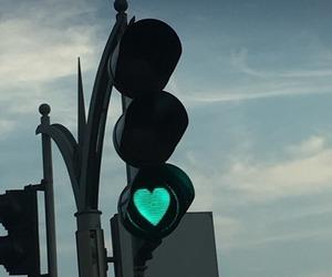 heart, light, and sky image