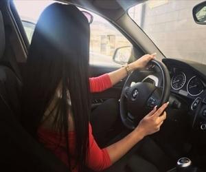 bmw, drive, and girl image