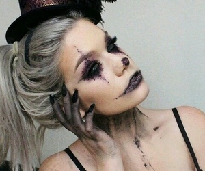 costume, makeup, and Halloween image
