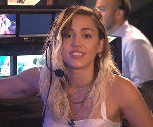 blue eyes, miley cyrus, and blonde highlights image
