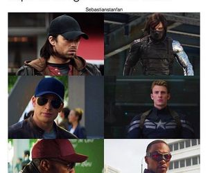 captain america, chris evans, and falcon image