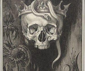 skull, snake, and art image
