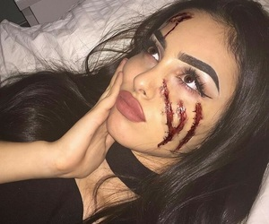 girl, Halloween, and makeup image