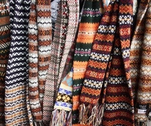 autumn, scarf, and fall image
