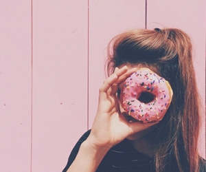 girl, donuts, and pink image