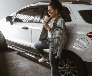 a4, car, and girl image