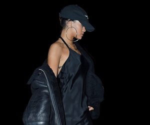rihanna, fashion, and black image
